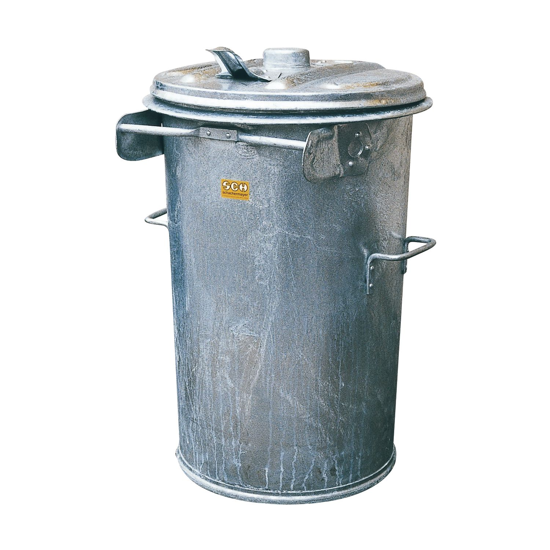Mülltonne Rtl90 Stahlblech Verzinkt Inhalt 90 Liter Höhe 780 Mm