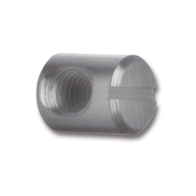 FE blank Quergewindebolzen für Verbindungsschraube M6 Abstand 5 L 12.5 ø10