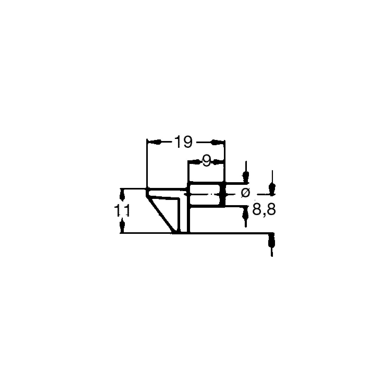 Steckbodentrger Winkel 2 Bohr 6 Mm Kunststoff Wei Vpe 100 St Traeger Schematic