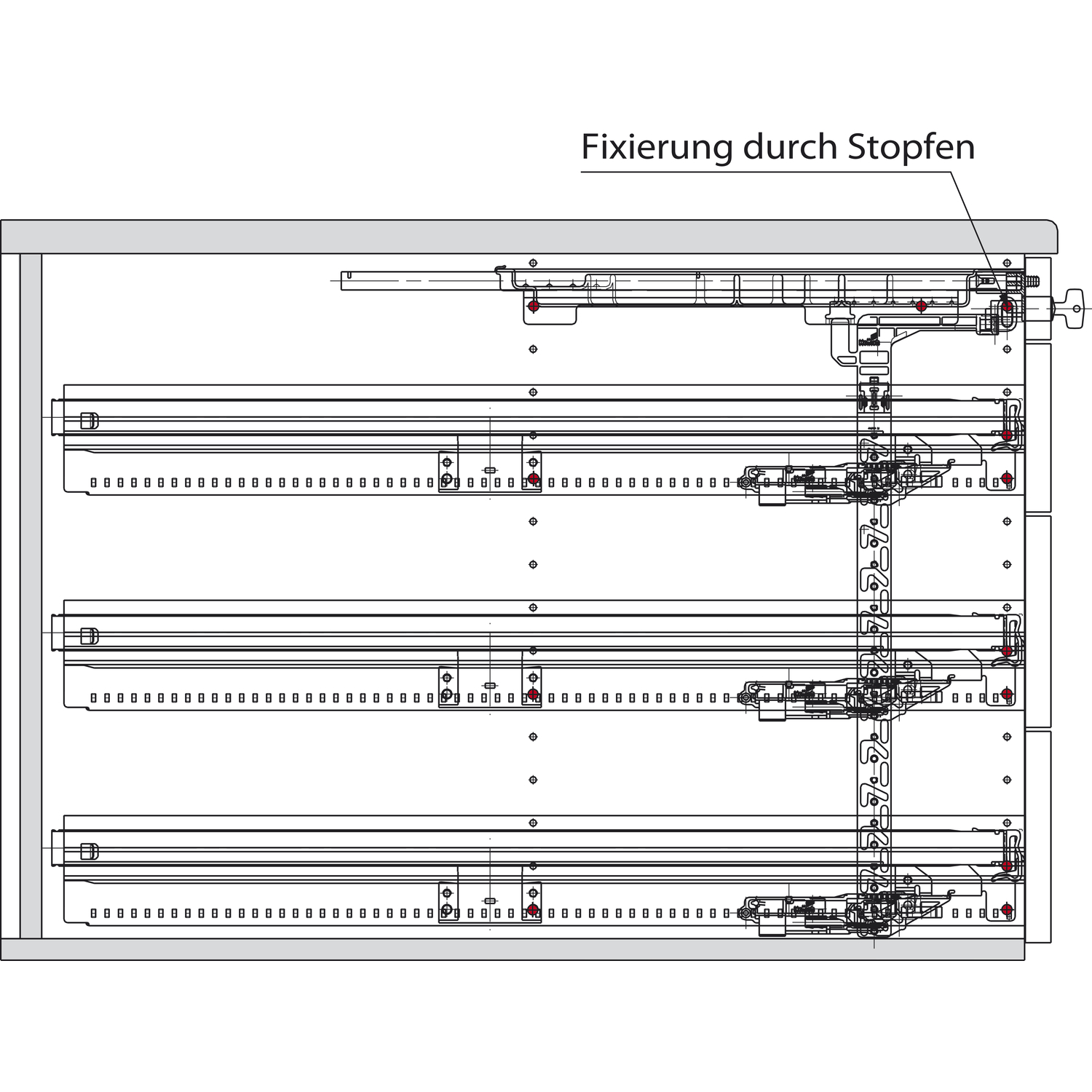 Hettich Systema Top 2000 Container Set Sil Sys Vollauszug Et 530 Schw