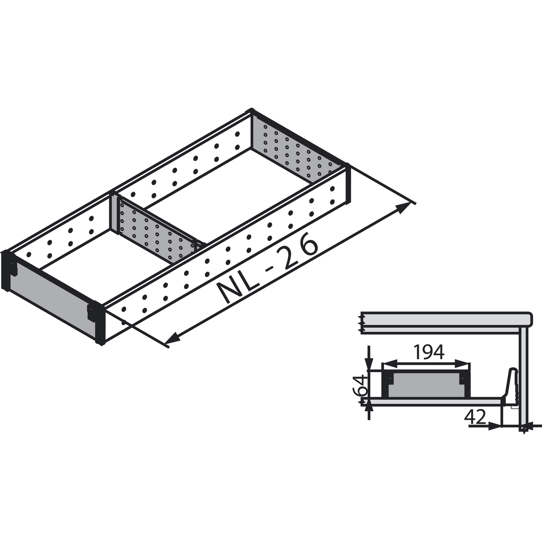 blum orga line facheinteilung set zsi xxxfi2n nennl nge 550 mm. Black Bedroom Furniture Sets. Home Design Ideas