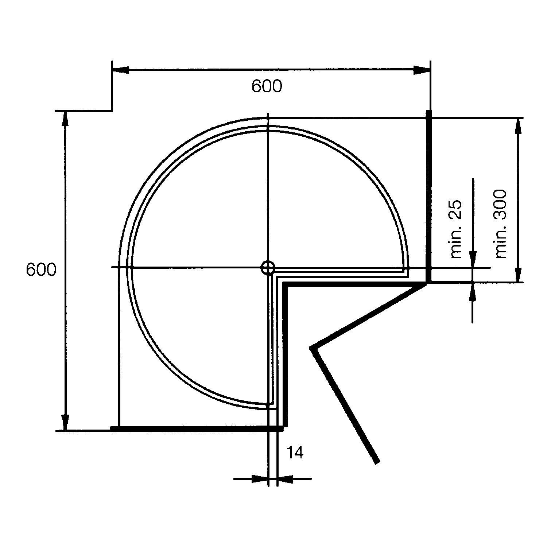 ninka drehboden standard 530 mm kb 600 mm polystyrol. Black Bedroom Furniture Sets. Home Design Ideas