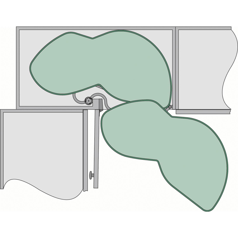 zestaw p ek wychylnych lemans prawy szer drzwi 45cm stal srebrna ral 9006. Black Bedroom Furniture Sets. Home Design Ideas