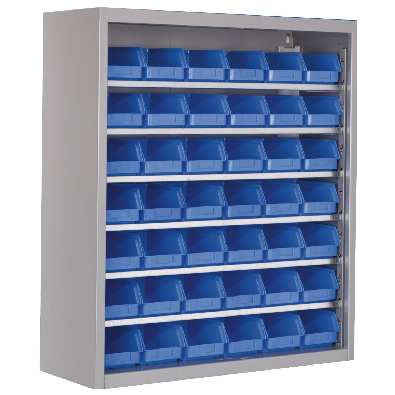 Top-Lagerschrank LSCH6K RAL7035 ohne Türen 780 x 670 x 260 mm