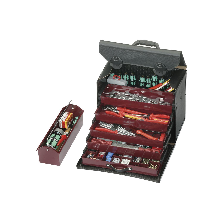 parat werkzeugtasche top line 410 x 220 x 310 mm mit rollen teleskopsystem. Black Bedroom Furniture Sets. Home Design Ideas