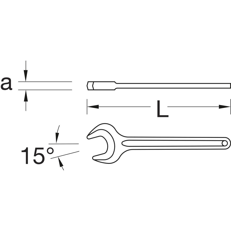 Gedore Einmaulschl/üssel 50 mm