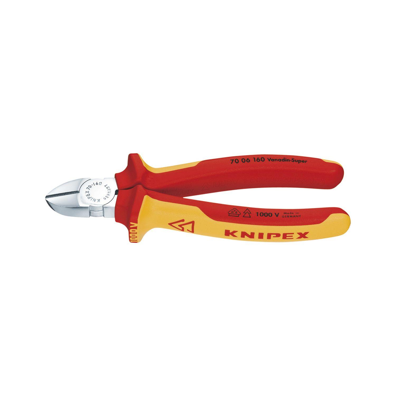 KNIPEX VDE-Seitenschneider Form 0 DIN 5749 Länge 160 mm