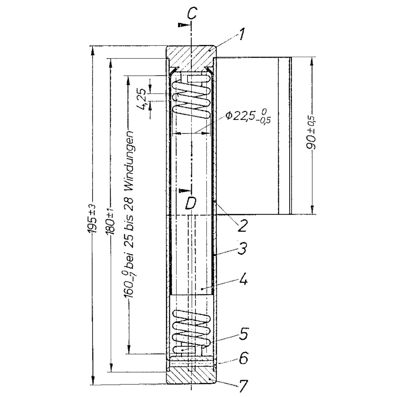 Hervorragend Federband zum Anschweißen, rechts, 29 x 180 mm, Stahl blank SS62