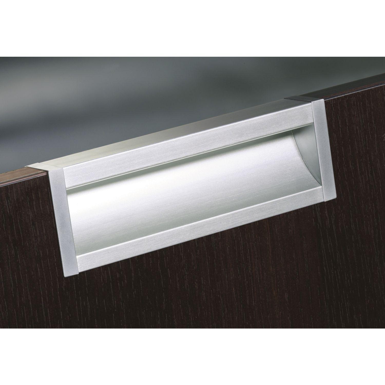 griffleiste akrete l nge 2500 mm abl ngbar aluminium silber eloxiert. Black Bedroom Furniture Sets. Home Design Ideas