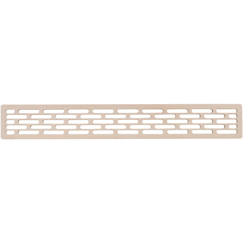Lüftungsgitter Kühlschrank Länge 555 mm, Breite 80 mm, Buche roh