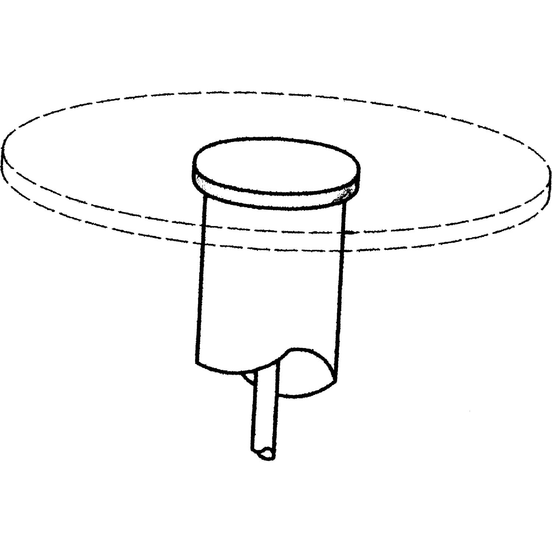 Adapter für Glasplatten, Art.Nr. 103 320 798 (siehe Zubehör). Nur in Verbindung mit Tischgestellen.