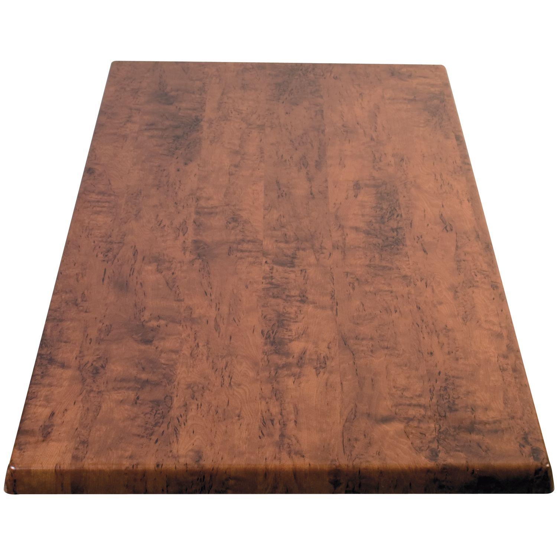 Piano tavolo legno-rivestimento plastica, 800 x 1200 mm - bianco