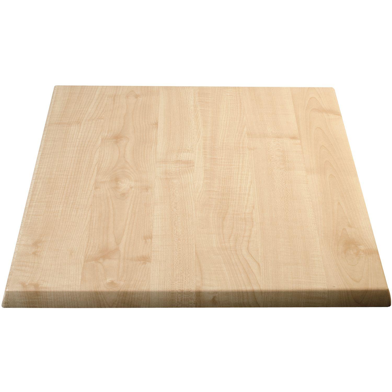 Piano tavolo legno-rivestimento plastica, 800 x 800 mm - bianco