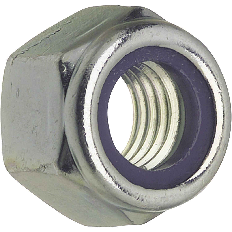 ISO7040// 8 M 6 verzinkt Sicherungsmutter hohe Form mit Polyamideinlage