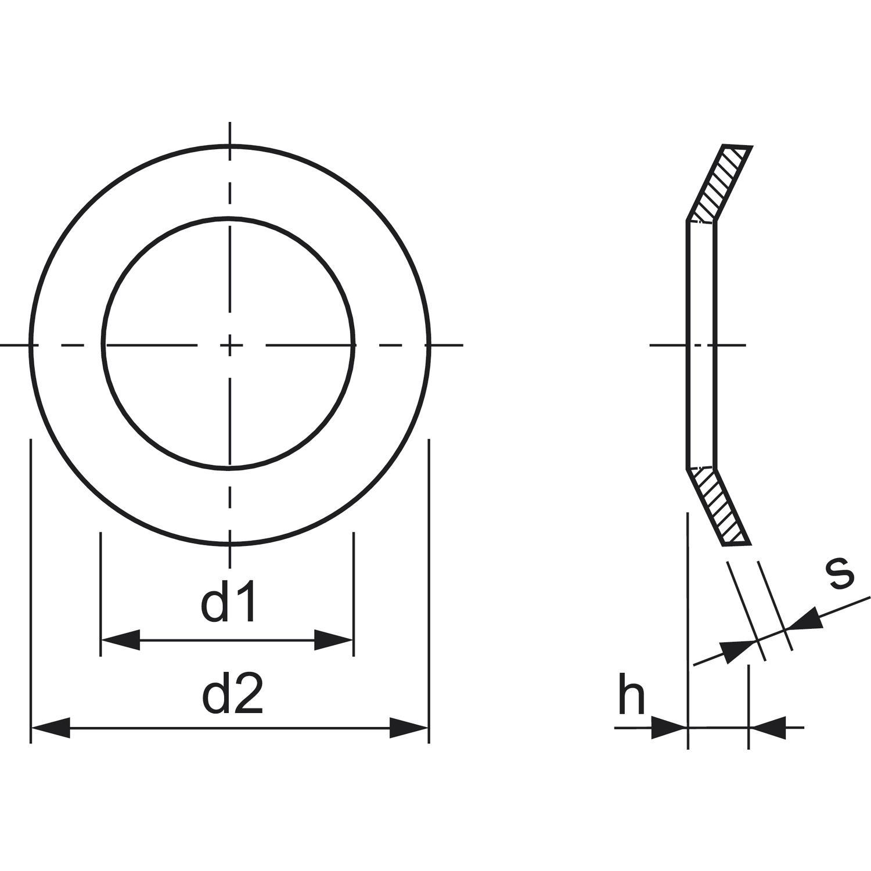 din6796 m 5 edelstahl a4 spannscheibe f u00fcr schraubverbindungen