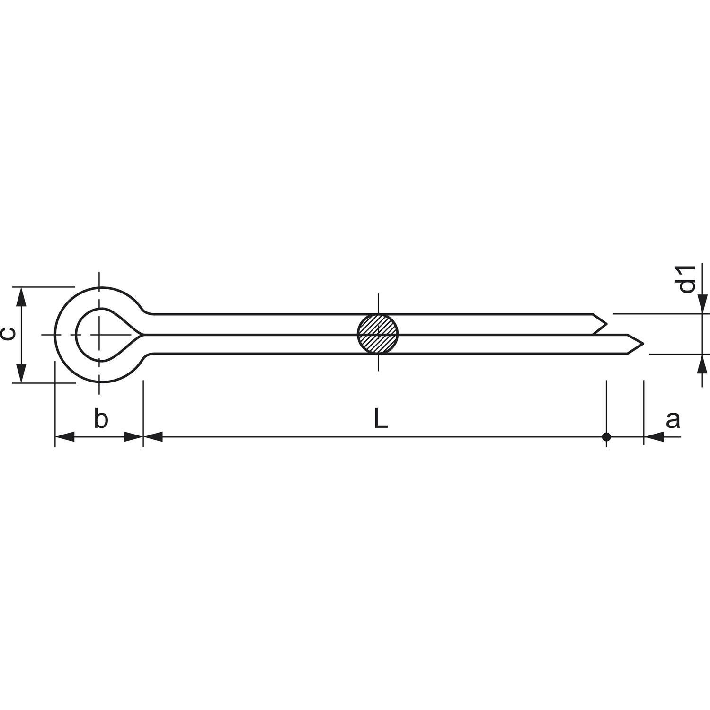 Splinte DIN EN ISO 1234 VE:1000St/ück 1 x 10 verzinkt galv ehemals DIN 94