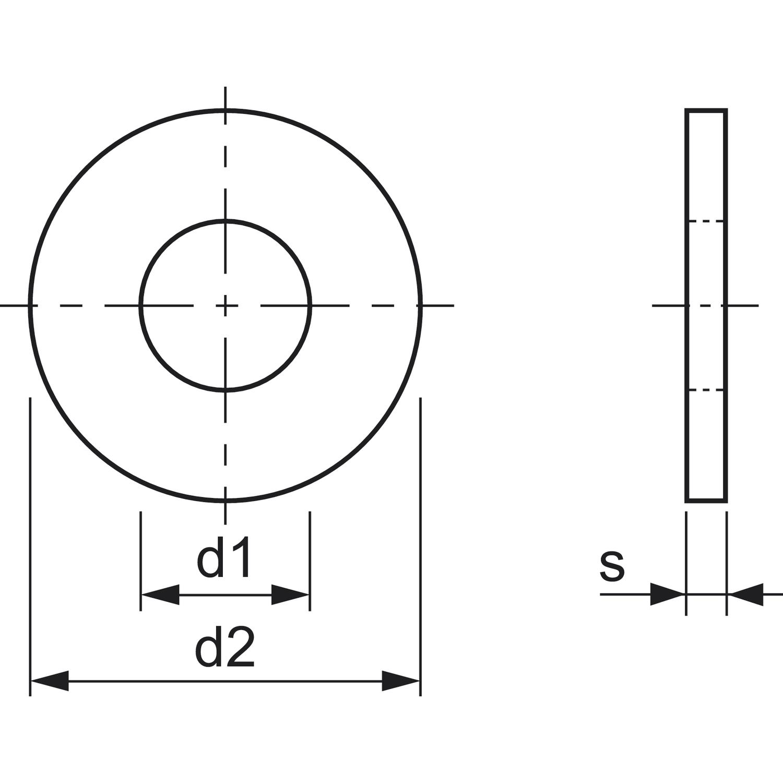 DIN9021 M 6 Edelstahl A2 Scheibe mit vergrösserter Auflagefläche100 Stk