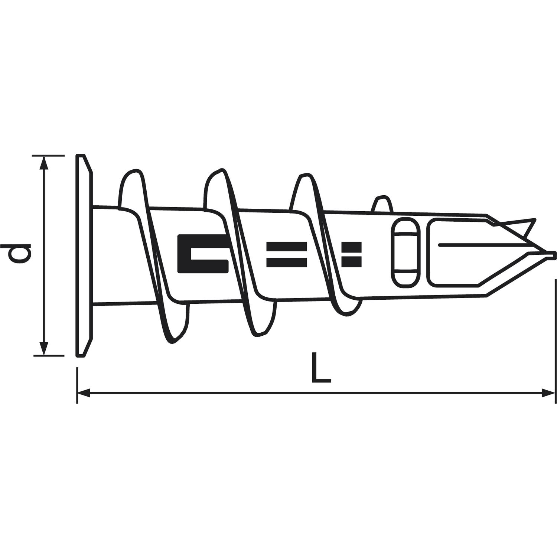 MUNGO MJP32 Jet Plug Gipskartondübel Zink-Druckguss