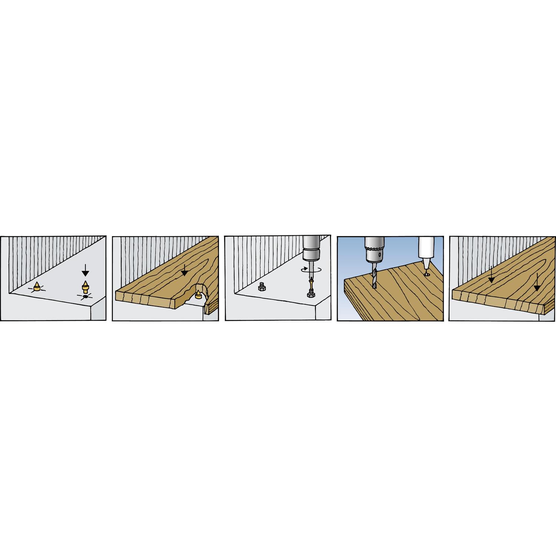 fischer tbb treppenstufenbefestigung nylon grau. Black Bedroom Furniture Sets. Home Design Ideas