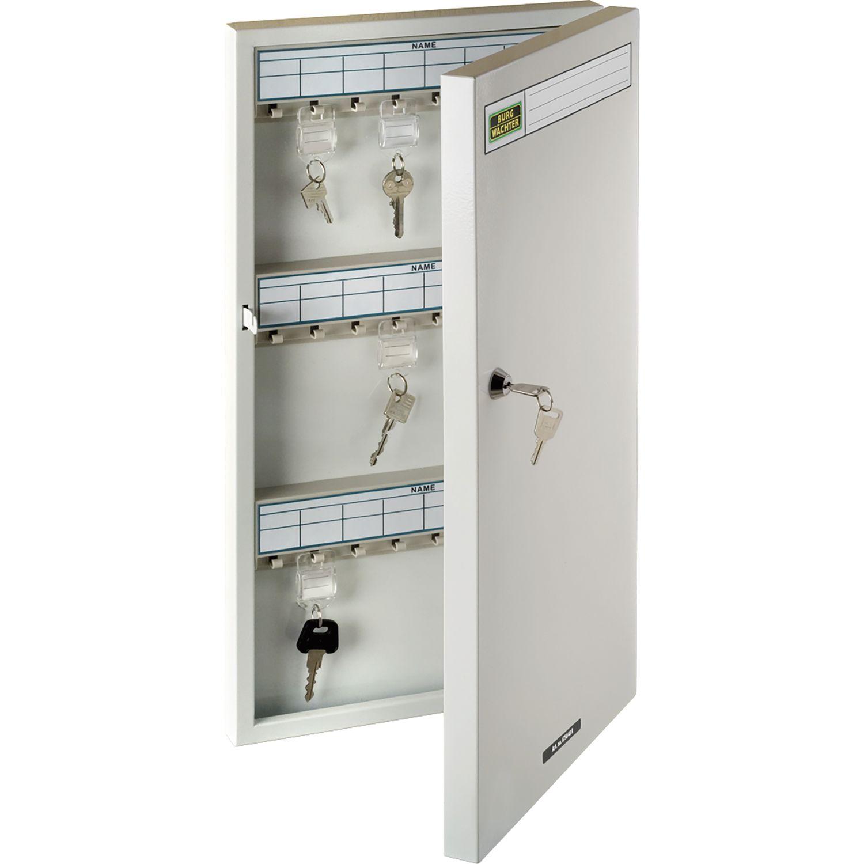 BURG Schlüsselschrank 6750, mit 96 Haken, Stahl grau
