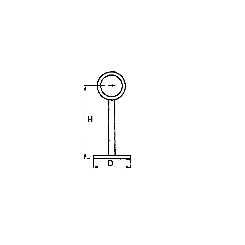 bar reling wandst tze gerade f r rohr 38 mm h he 175 mm stahl vergoldet. Black Bedroom Furniture Sets. Home Design Ideas