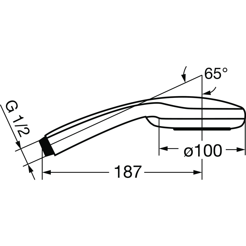 Hansgrohe Handbrause Croma 100 Vario Chrom