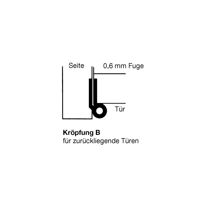 Bevorzugt Möbelband Kröpfung B, rechts, 50x40 mm, Messing poliert WW07