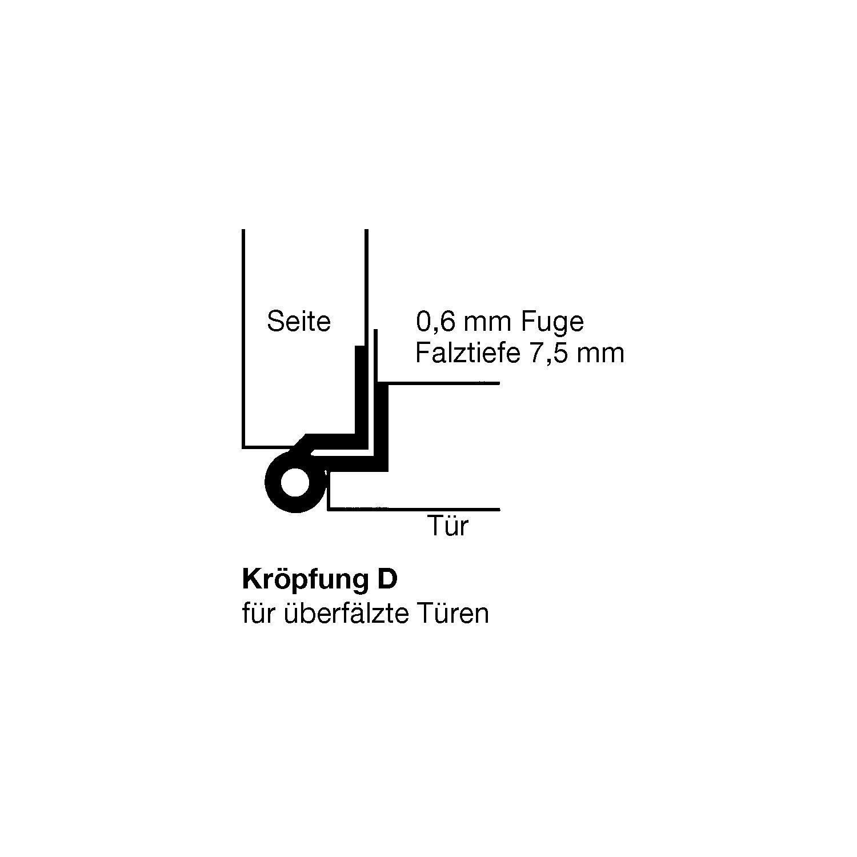 Bekannt Möbelband Kröpfung D, links, 50x33 mm, Messing vernickelt matt AM47