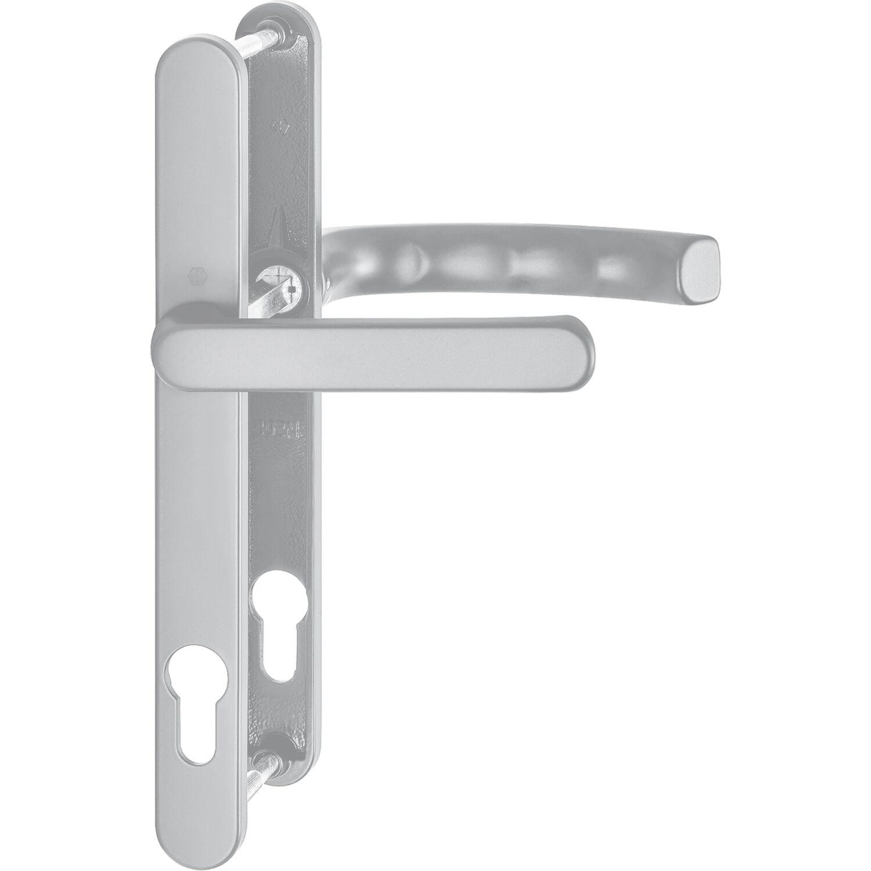 Drückergarnitur LIÈGE Schmalschild 24 mm Griff flach,67-72,weiß