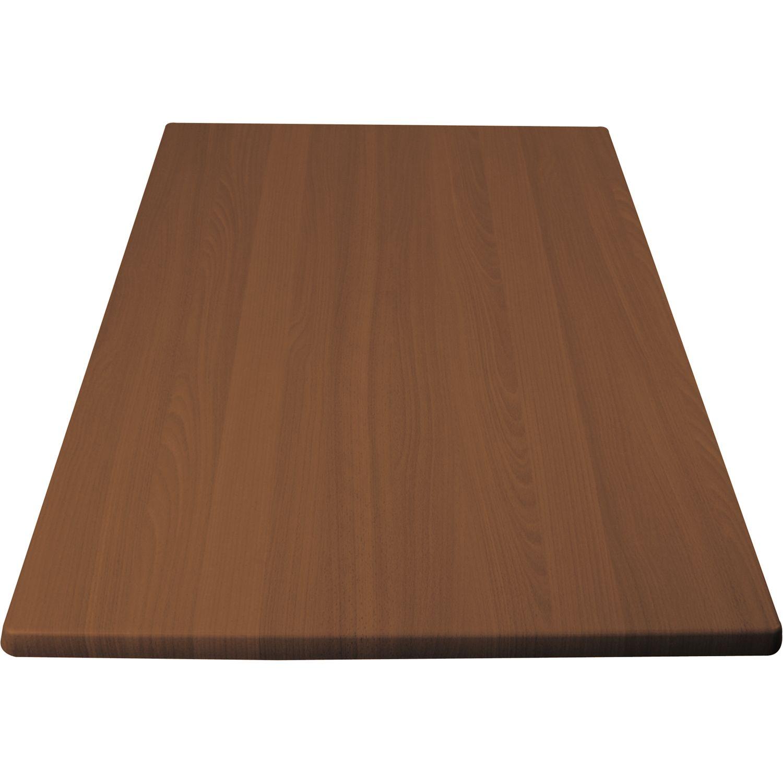 Piano tavolo legno-rivestimento plastica, 600 x 1000 mm - acero