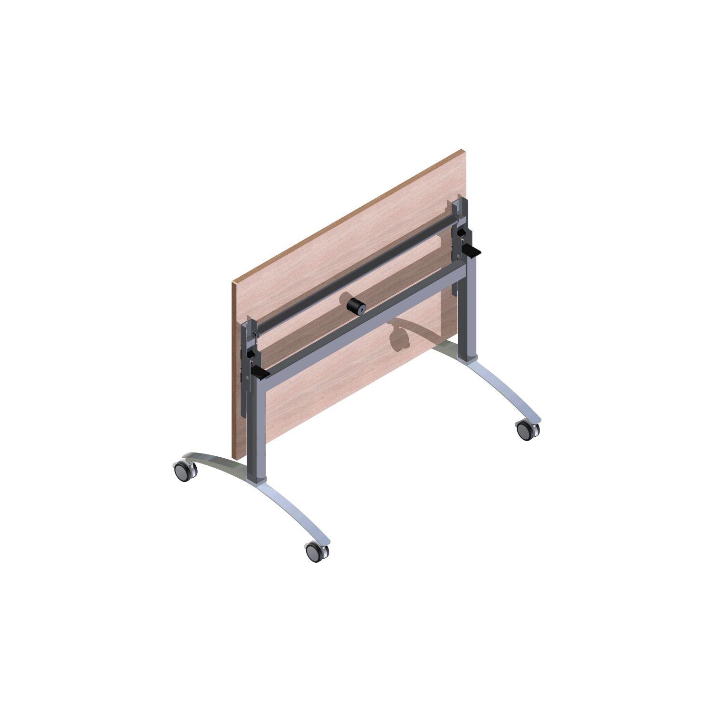 Base tavolo ribalta Fli-N-Store 4 per piano 800x800;bianco allum.RAL ...