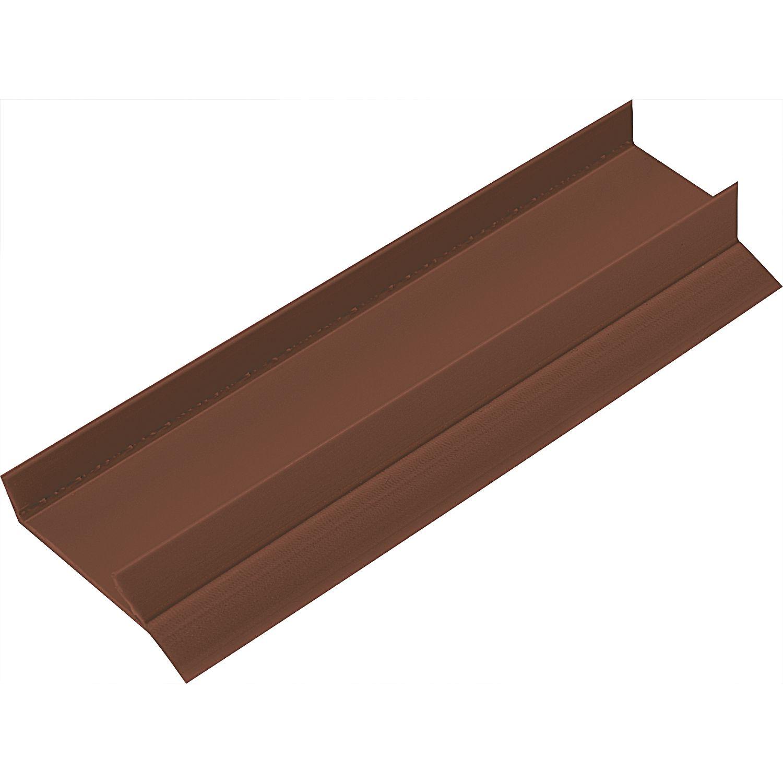 sockel abschlussprofil zum aufstecken plattenst rke 19 kunststoff braun ral 8024. Black Bedroom Furniture Sets. Home Design Ideas