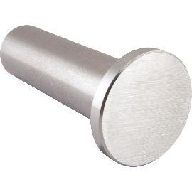 6m aus einem St/ück und unterschiedlichen Endst/ücken zum Ausw/ählen /Ø 42,4 mm mit gerade Halter Enden mit leicht gew/ölbte Kappe zum Beispiel: L/änge 530 cm mit 6 Halter Edelstahlhandlauf L/änge 0,3m