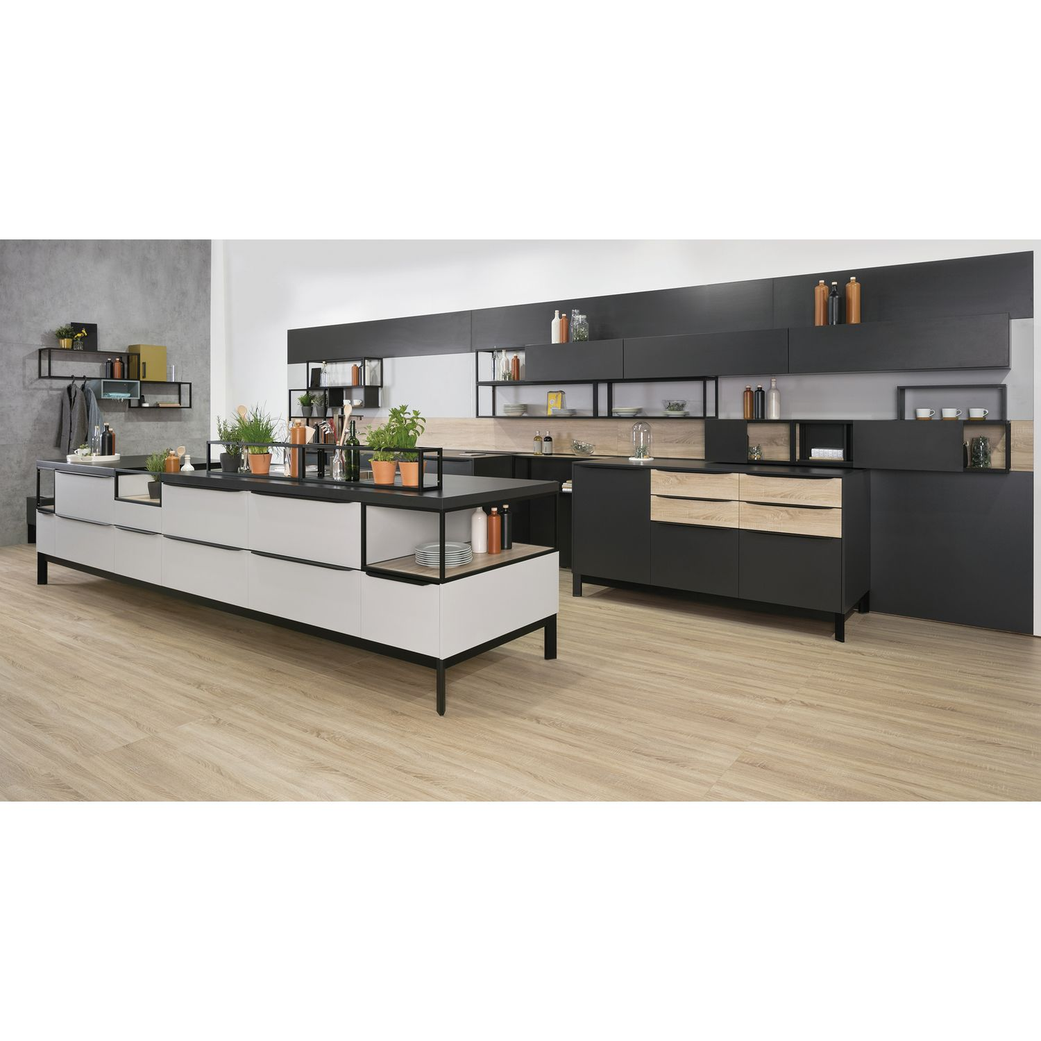 regal smartcube breite 900 h he 350 tiefe 250 mm alu spanplatten schwarz. Black Bedroom Furniture Sets. Home Design Ideas