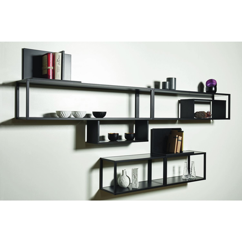 regal smartcube breite 900 h he 350 tiefe 250 mm alu spanplatten schwarz. Black Bedroom Furniture Sets. Home Design Ideas