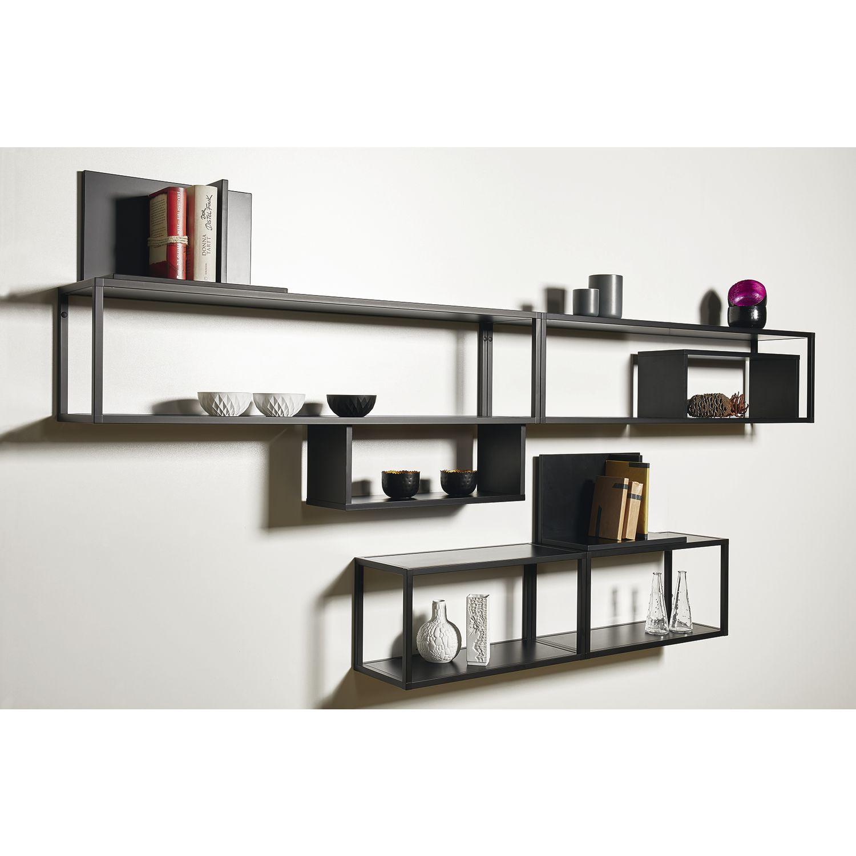 regal smartcube breite 600 h he 350 tiefe 250 mm alu spanplatten schwarz. Black Bedroom Furniture Sets. Home Design Ideas