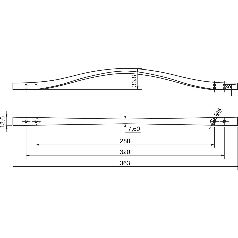 Oderola 6 Piece Zink-Legierung M/öbelgriffe M/öbelgriff Schrankgriffe Gl/änzend T/ürgriffe Cabinet Handles