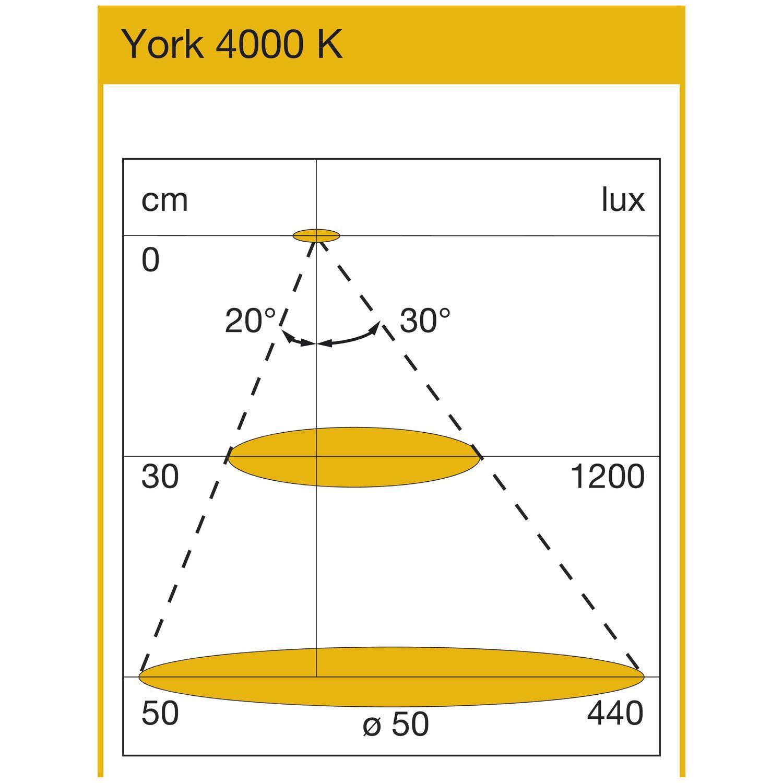 LED Leuchte York IR mit Sensor, 1,6 W, 12 VDC, Neutralweiß, Edelstahl Effekt