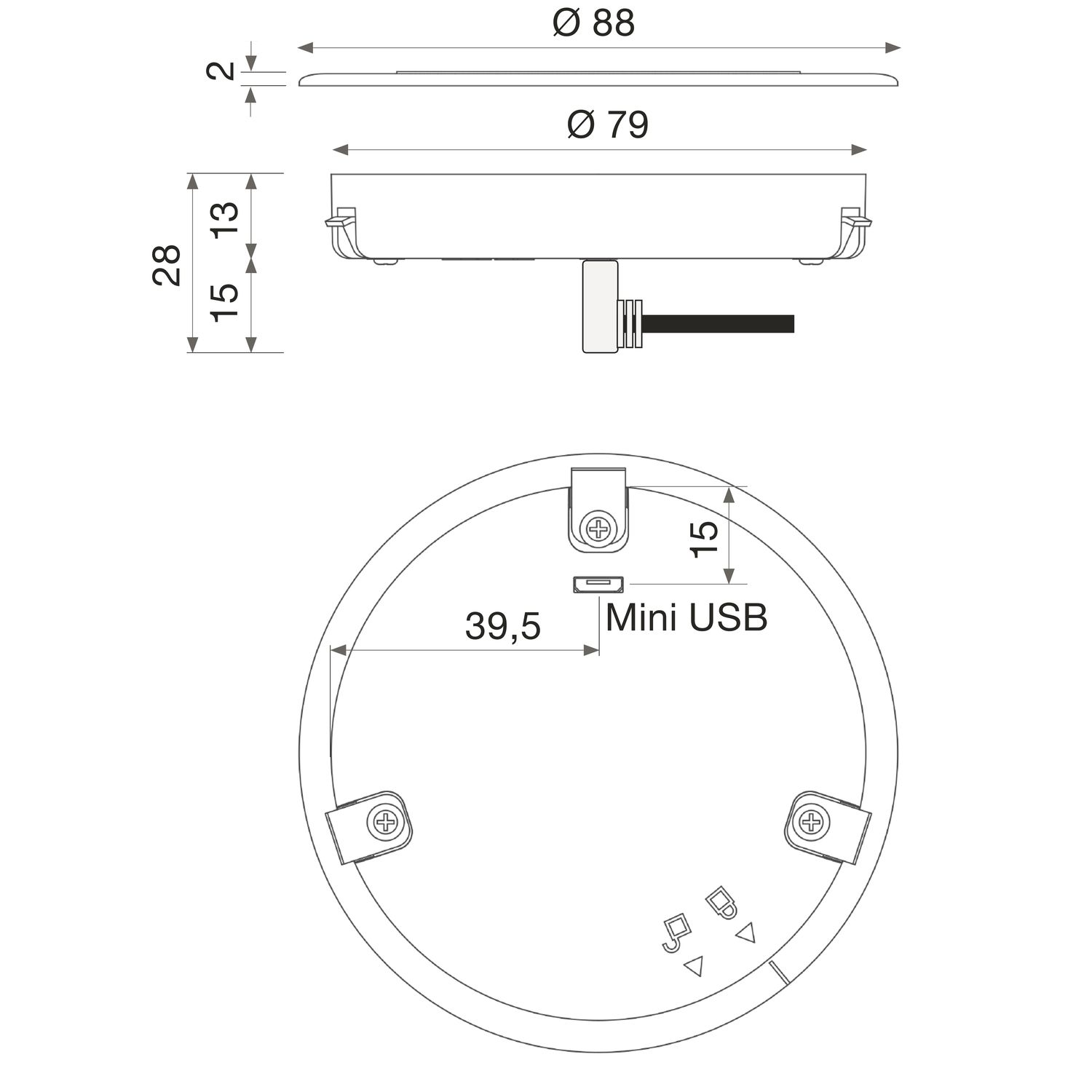 EVOline Wireless Charger (QI Ladefunktion), kabelloses Laden