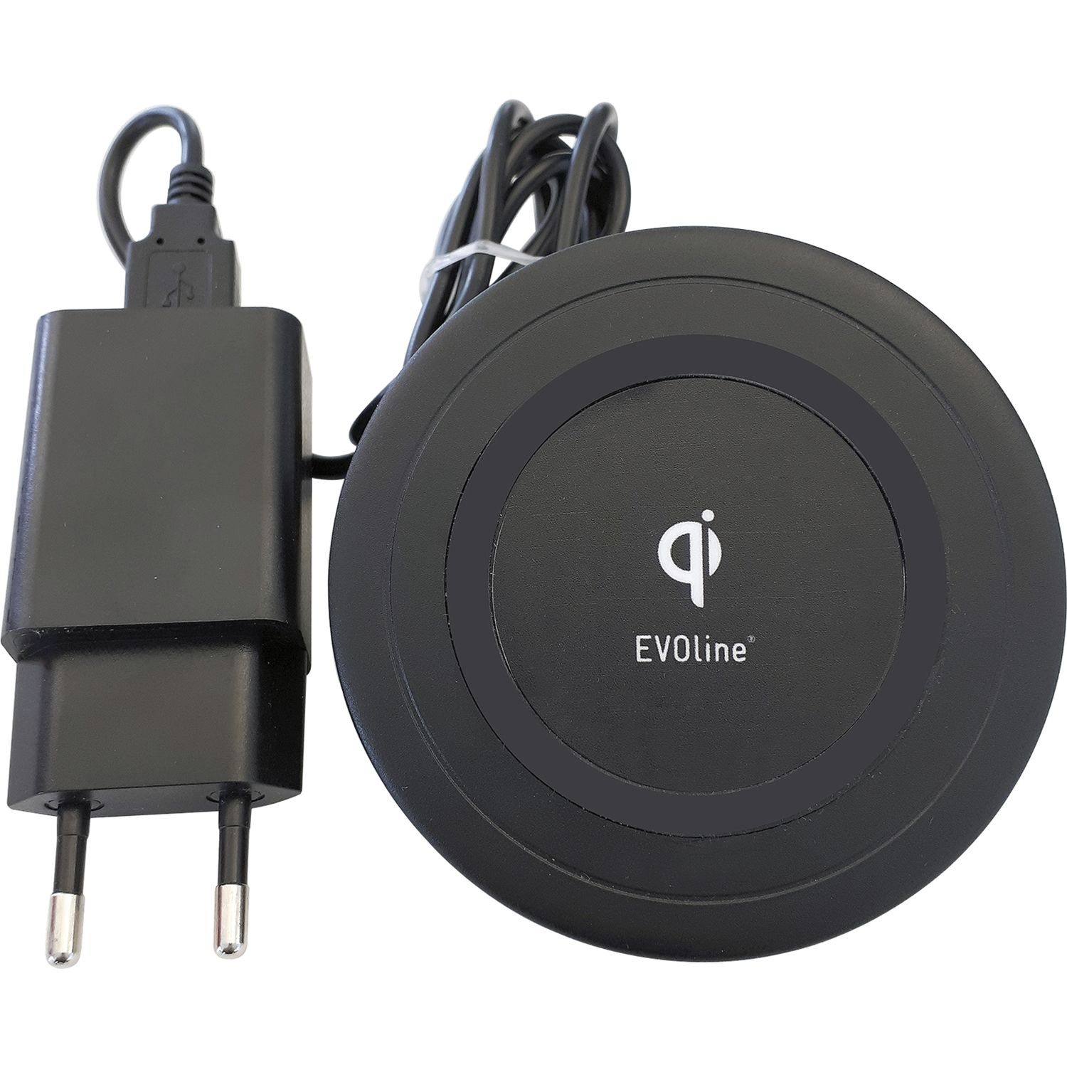 evoline wireless charger qi ladefunktion kabelloses. Black Bedroom Furniture Sets. Home Design Ideas