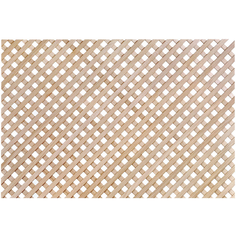Holzgitter ganze Tafel, diagonal, 1230 x 600 mm, Buche gedämpft