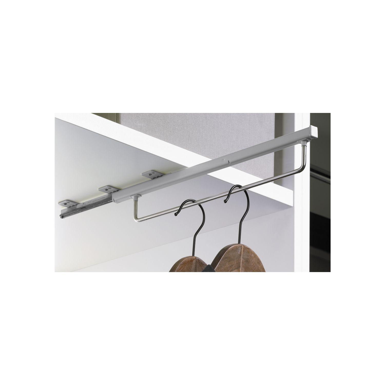 Hettich Quadro Schrankgarderobe Ausziehbar 395 X 48 X 60 Mm Silber