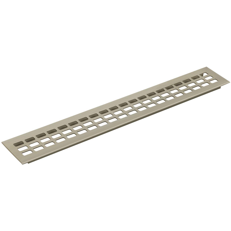 Lüftungsgitter Länge 400 mm Aluminium//Titan Edelstahl Effekt Breite 100 mm