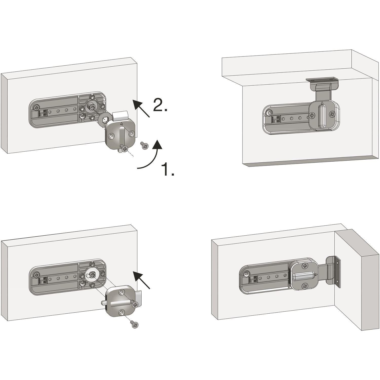 verstellbarer Riegel Lade / rechts