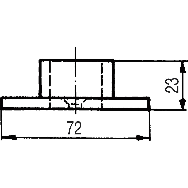 bar reling wandrosette f r rohr 38 mm edelstahl geschliffen. Black Bedroom Furniture Sets. Home Design Ideas