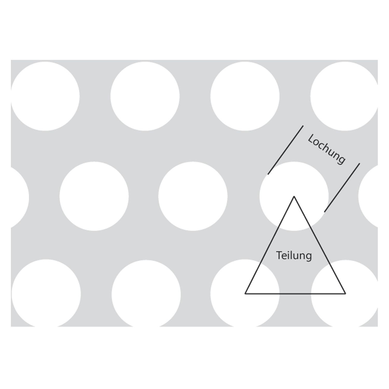 Rv - okrugla perforacija u pomaknutim redovima