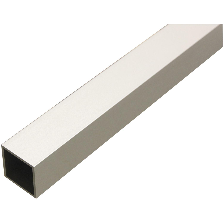 Aluminium Vierkantrohr AlMgSi0,5 (6060) F22, Eloxiert E6EV1