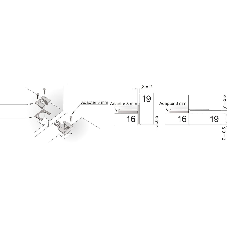 Variante: Frontstärke 19 mm; Korpusstärke 16 mm