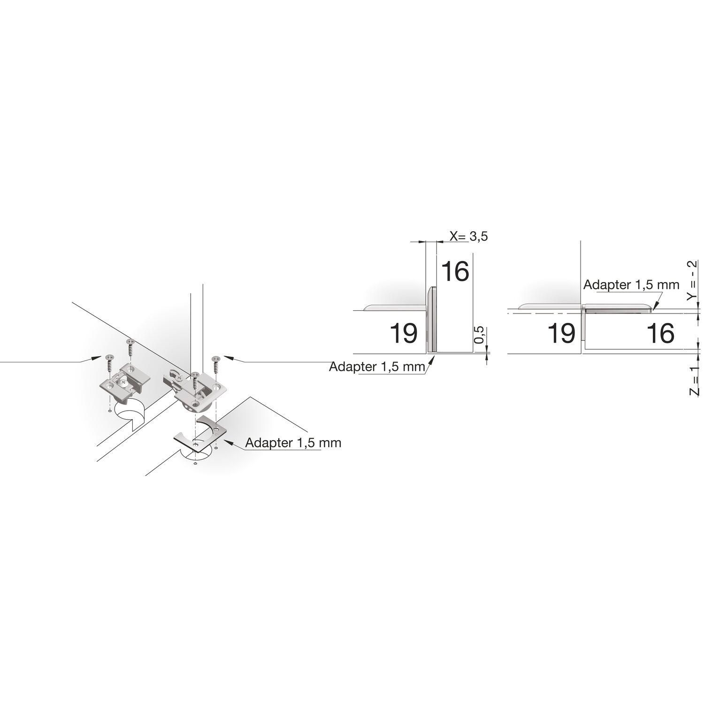 Variante: Frontstärke 16 mm; Korpusstärke 19 mm