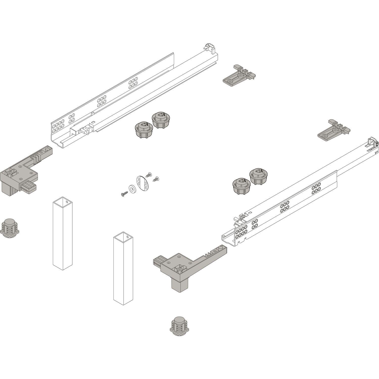 AGO-Tex Antirutsch Einlegematte KB 1000 mm umbragrau zu LEGRABOX 474 x 921 mm